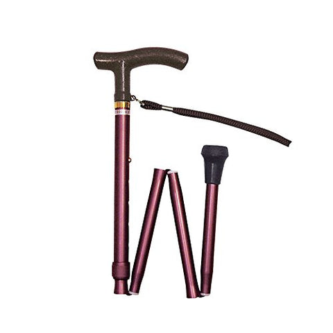 Shimadzu Folding cane aluminum lightweight stick small grip (with mobile bag) / MK59-1 by Shimadzu