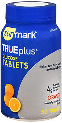 Sunmark True plus Glucose Tablets Orange - 50 Tablets