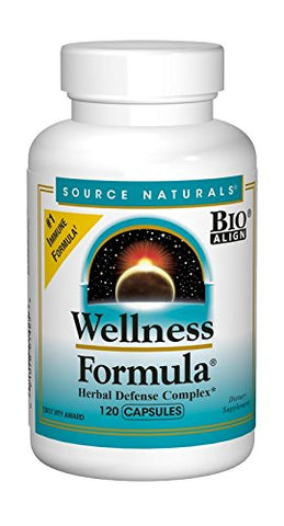 Source Naturals Wellness Formula Bio Aligned Vitamins & Herbal Defense For Immune System Support   D