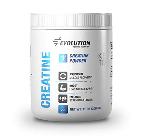 Evolution Advance Nutrition Pure Keto Creatine Monohydrate Powder  Supplement Support for Muscle Recovery and Enhanced Strength and Power, Ideal for Fasting and Training (60 Servings, 300 g)