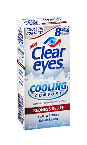 Clear Eyes Cooling Comfort Redness Relief Eye Drops - 0.5 oz, Pack of 6
