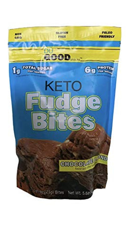 Keto Fudge Bites - Delicious Low-Carb to-go Chocolate Snacks | Non GMO, Gluten Free, Paleo Togo Snack Made with Grass-Fed Whey Protein | Ketogenic Diet Friendly Treats (7 Bites) - Bonus EBOOK
