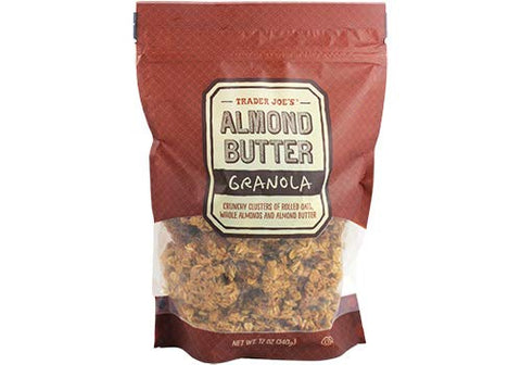 Trader Joe's Almond Butter Granola 12 oz (Pack of 4)