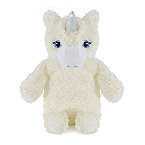 Hot Water Bottle with Novelty Plush Warm Cosy Luxuriously Super Soft Cover Premium Natural Rubber 750 ml Bag (Cream Unicorn)