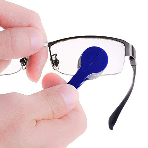 BCP 12 Pieces Mini Sun Glasses Eyeglass Microfiber Spectacles Cleaner Brush Cleaning Tool