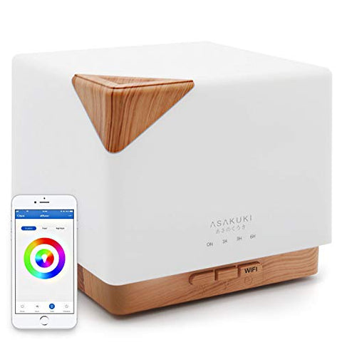 Asakuki Smart Wi Fi 700ml Essential Oil Diffuser  App Control Compatible With Alexa, Aroma Humidifie