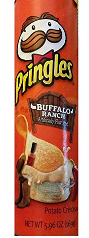 Pringles Potato Crisp: Buffalo Ranch Potato Crisps (Pack of 3) 5.96 oz Cans