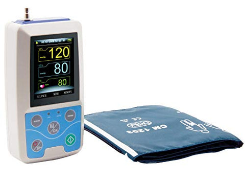 CONTEC ABPM50 Ambulatory Blood Pressure Monitor 24 Hours Holter with PC Software for Continuous Monitoring+USB Port