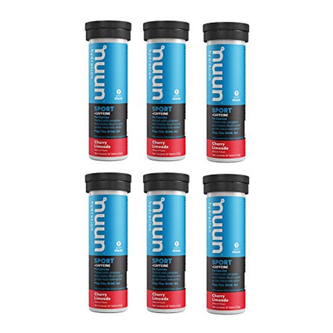 Nuun Energy: Cherry Limeade Electrolyte + Caffeine Tablets (6 Tubes of 10 Tabs)