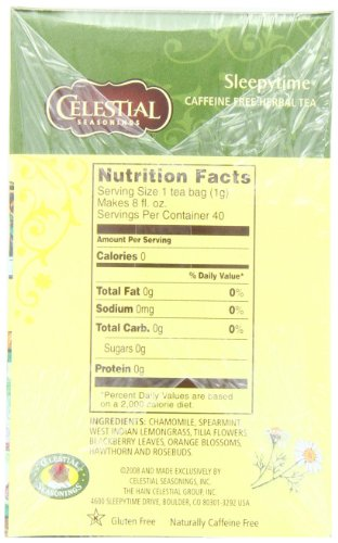 Celestial Seasonings Herbal Tea, Sleepytime, 40 Count Box (Pack of 6)