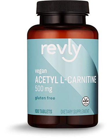 Amazon Brand - Revly Acetyl L-Carnitine, 500 mg, 100 Tablets, Vegan