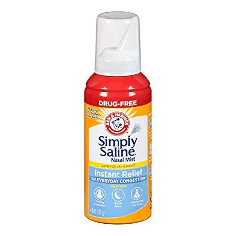 Simply Saline Instant Relief for Everyday Congestion Nasal Mist 4.25 oz
