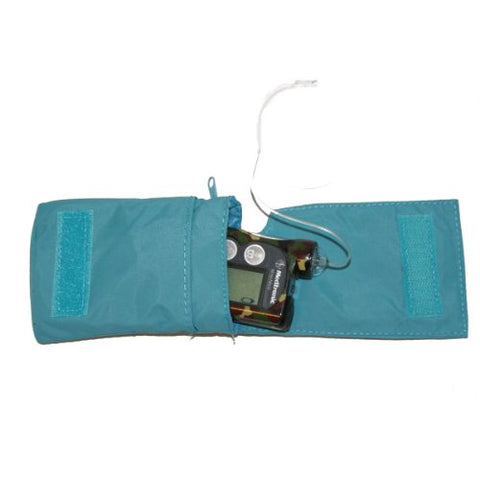 Insulin Pump Universal Bag - Blue Cute Kittens Design with Velstretch Belt