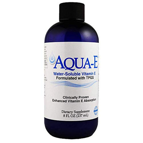 A C Grace Company Aqua-E Water-Soluble Vitamin E with Tocopherols Tocotrienols 8 fl oz 237 ml