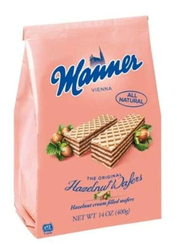 Hazelnut Cream Filled Wafers (manner) 14oz