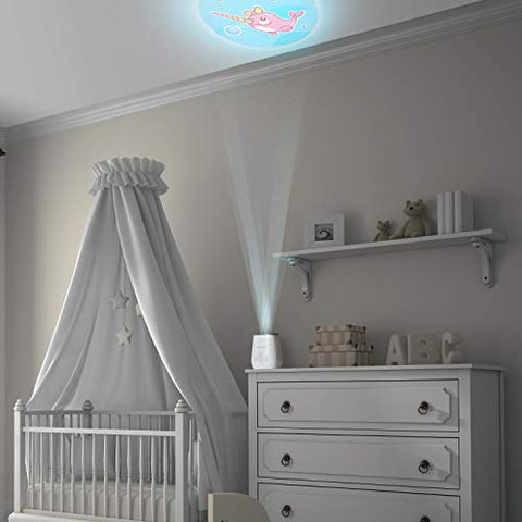 Sleep Soother, White Noise Sound Machine and Night Light from Project Nursery 4-in-1 Sound Soother with Projector, Nightlight and Timer