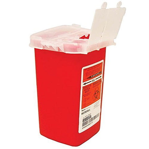 Kendall Covidien Sharp Container 1 Qt (4 Pack)