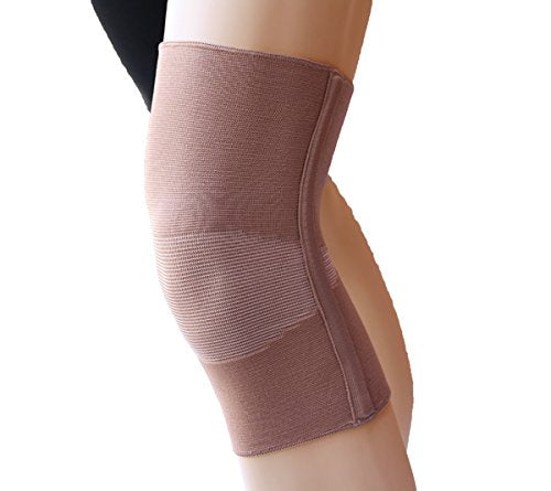 Alpha Medical Compression Support Knee Brace with Support Stays (XXX-Large Beige)