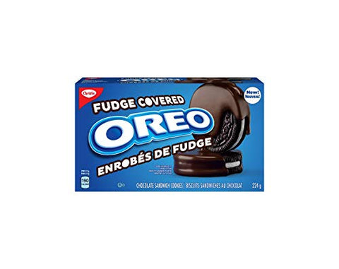 Christie Oreo Fudge Covered Cookies, 224g/7.9oz, (Imported from Canada)