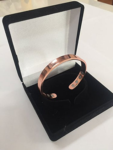 Pure Copper Bracelet - 8 Magnets - Joint Pain Relief - Highly Effective - Magnetic Bracelet - Arthritis Healing Aid for Men and Women
