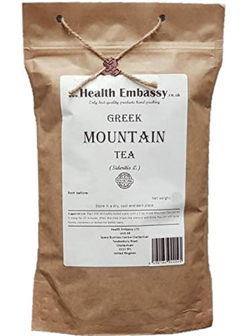 Greek Mountain Tea Ironwort (Sideritis L. - Sideritis Scardica) Health Embassy - 100% Natural (50g)