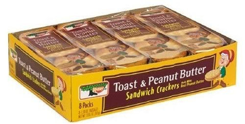 Keebler Sandwich Crackers, Toast & Peanut Butter, 10.4 oz (Pack 9)