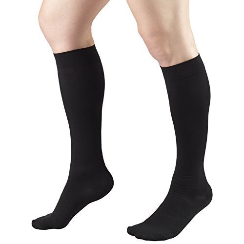 Truform 8808 Anti-Embolism Knee Length Closed Toe 18 mmHg Stockings, Black, XX-Large (Pack of 2)