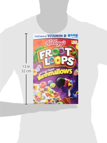 KELLOGGS FROOT LOOPS WITH MARSHMALLOWS CEREAL 12.6 OZ BOX