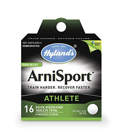 Post Workout Recovery Tablets ArniSport by Hyland's, Natural Quick Dissolving Pain Relief, 16 Count