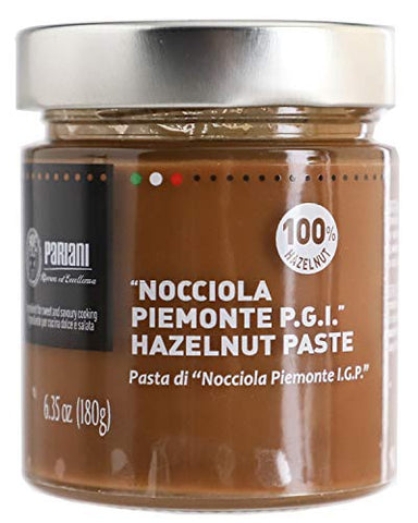 Pariani 100% Pure Unsweetened Hazelnut Paste from Italy 180 Gram