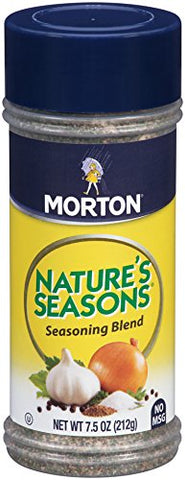 Morton Nature's Seasons Seasoning Blend, 7.5 Ounce Canister (Pack Of 12)