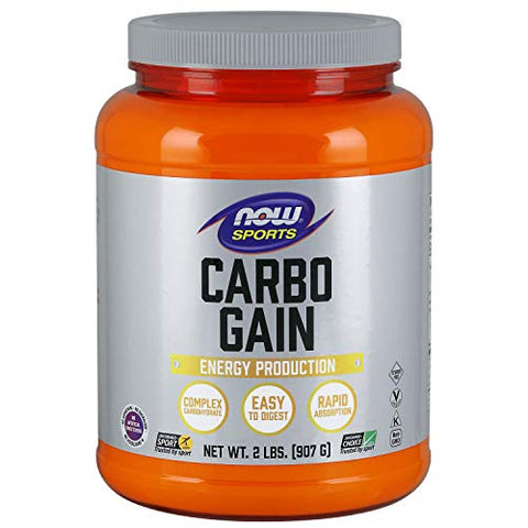 Now Sports Nutrition, Carbo Gain Powder (Maltodextrin), Rapid Absorption, Energy Production, 2 Pound
