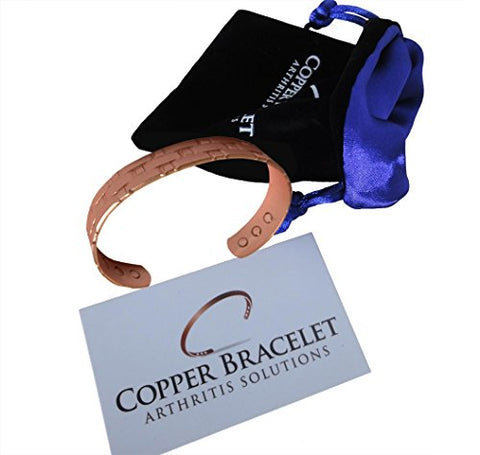 Men's Heavyweight Copper Bracelet for Arthritis - Guaranteed 99.9% Pure Copper Magnetic Bracelet with 6 Powerful Magnets for Joint Pain, Arthritis, RSI, Carpal Tunnel. (Single Bracelet)