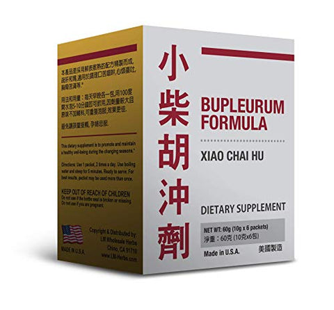 Bupleurum Formula Xiao Chai Hu Chong Ji Traditional Herbal Supplement 10g x 6 Packets Sugar Free