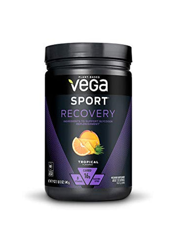 Vega Sport Recovery, Tropical, 20 Servings   Post Workout Muscle Recovery Drink Mix With Vitamins, E