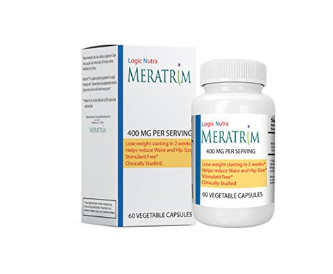 Meratrim Pure Weight Loss Slimming Formula, Garcinia, 60 Vegetarian Capsules, 400mg Daily   Stimulan