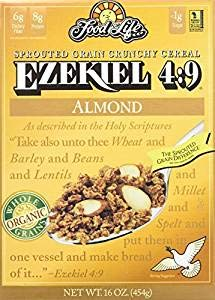 Ezekiel 4:9 Sprouted Whole Grain Cereal, Almond, 16 Ounce (Pack of 12)