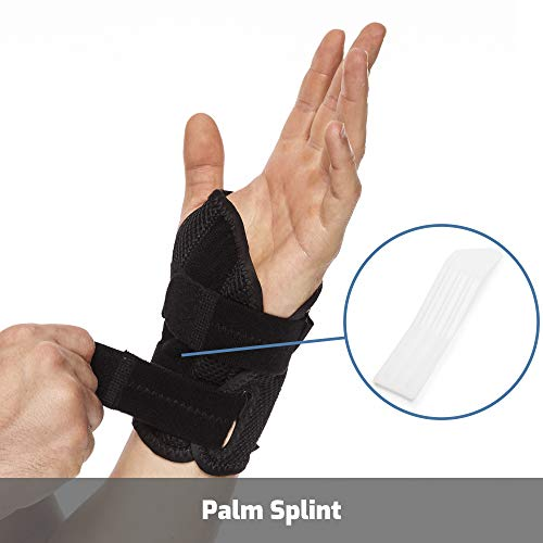 Brace Upâ® Wrist Support Brace With Splints For Carpal Tunnel Arthritis   Left Wrist (L/Xl)