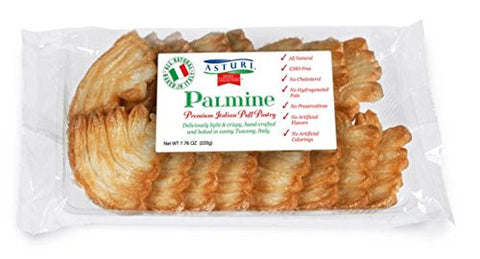 ASTURI, Palmine, Premium Italian Puff Pastry, 7.76 oz, Pack of 6