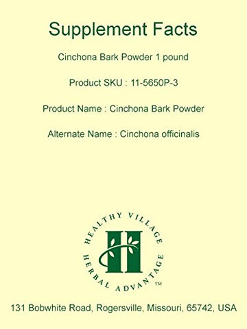 Cinchona Bark Officinalis Powder 1 Pound