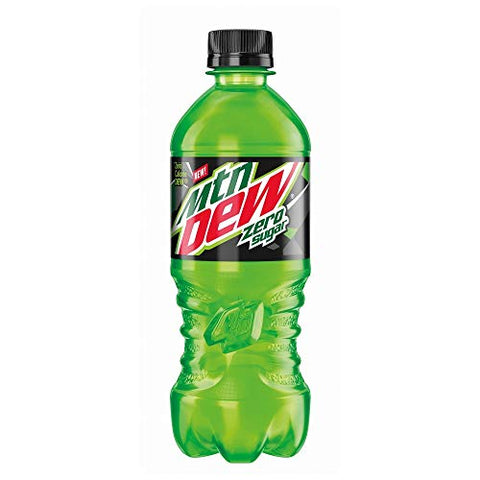 New Mountain Dew Zero Sugar 20oz bottle, 6 pack