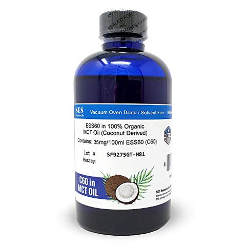 C60 in MCT Oil - 100% Organic Coconut Derived - 150ml