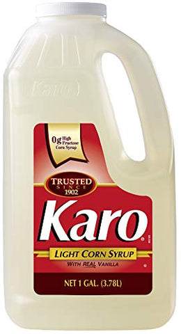 Karo - Light Corn Syrup with Real Vanilla, 1 Gallon Bottle - Includes Karo Measuring Spoon