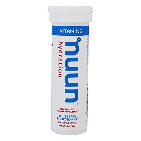 Nuun Vitamins Hydration Electrolytes Tablets Blueberry Pomegranate - 4 x12 Tablets