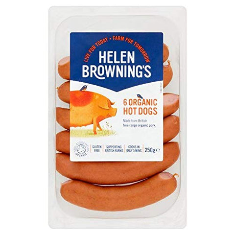 Helen Browning Organic Hot Dogs - 250g (0.55 lbs)