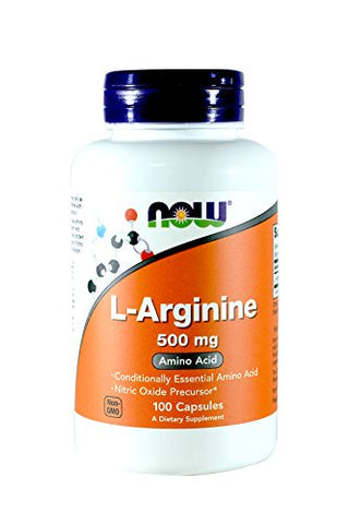 Now Foods Arginine 500mg, 100 Capsules (Pack of 2)