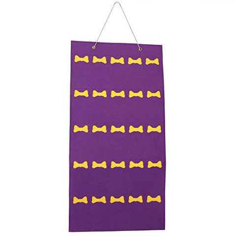 Felt Children Hanging Storage Bag, Household Jewelry Sunglasses Toy Storage Package Organizer Accessory(Purple)
