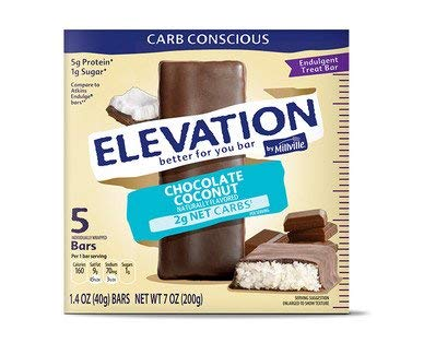 Millville Elevation Advanced Carb Conscious Better for You Chocolate Coconut Endulgent Bars - 5 ct.