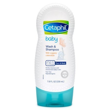 Cetaphil Baby Wash and Shampoo with Organic Calendula, 7.8 Ounce (Pack of 4)