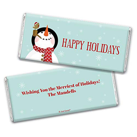 Christmas Candy Personalized Holiday Snowman Hershey's Chocolate Bars (36 Count)